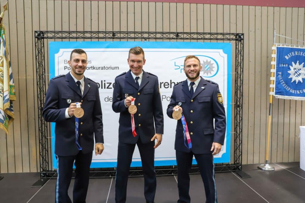 3 Olympioniken der Bayerischen Polizei